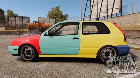 Volkswagen Golf MK3 Harlequin pour GTA 4 est une gauche