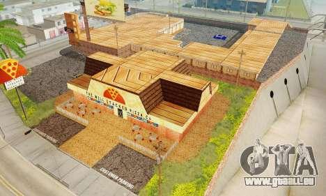 La nouvelle texture de pizzerias et les services pour GTA San Andreas dixième écran