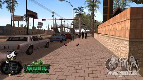 C-HUD Hulk pour GTA San Andreas deuxième écran
