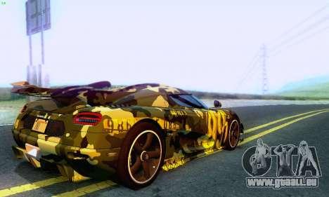 Koenigsegg One 2014 für GTA San Andreas Seitenansicht