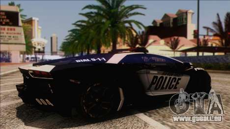 Lamborghini Aventador LP 700-4 Police für GTA San Andreas rechten Ansicht