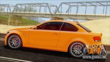 BMW 1M 2011 pour GTA San Andreas laissé vue