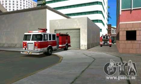 Réaliste caserne de pompiers à Los Santos pour GTA San Andreas deuxième écran
