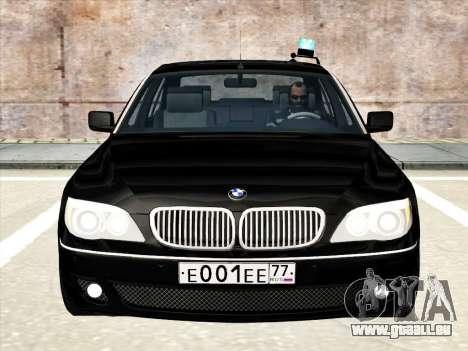 BMW 760Li für GTA San Andreas obere Ansicht