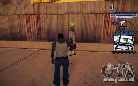 C-HUD One Of The Legends Ghetto für GTA San Andreas dritten Screenshot