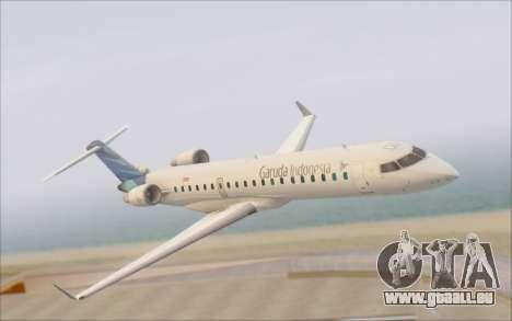 Garuda Indonesia Bombardier CRJ-700 für GTA San Andreas rechten Ansicht