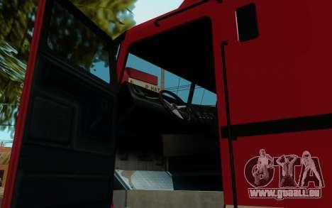 JoBuilt Transporteur Fixet из GTA 5 pour GTA San Andreas sur la vue arrière gauche