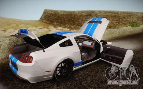 Ford Shelby GT500 2013 für GTA San Andreas Seitenansicht