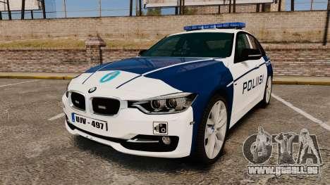 BMW F30 328i Finnish Police [ELS] pour GTA 4
