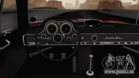 Mercedes-Benz 300SL 1955 pour GTA San Andreas vue arrière