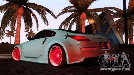 Nissan 350Z Minty Fresh pour GTA San Andreas laissé vue