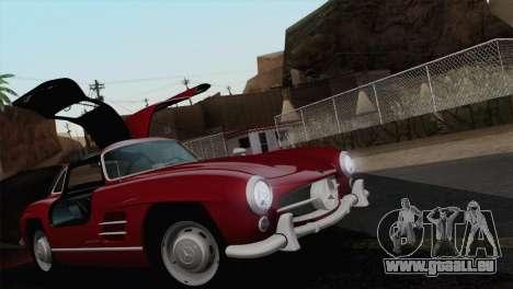 Mercedes-Benz 300SL 1955 für GTA San Andreas obere Ansicht