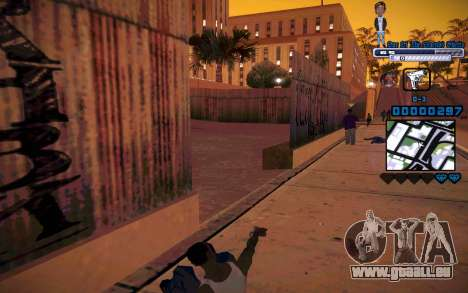 C-HUD One Of The Legends Ghetto für GTA San Andreas her Screenshot