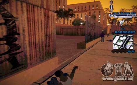 C-HUD One Of The Legends Ghetto pour GTA San Andreas quatrième écran