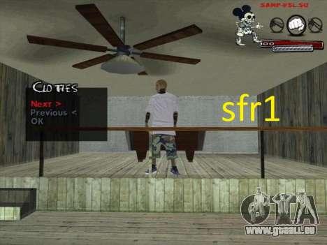 Peaux Surenos 13 pour GTA San Andreas quatrième écran
