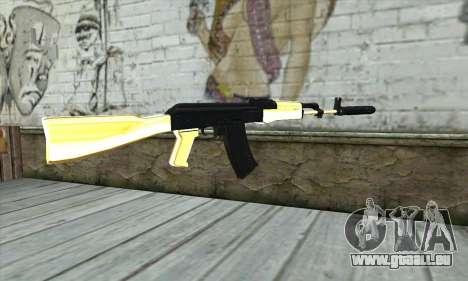 Golden AK47 pour GTA San Andreas deuxième écran