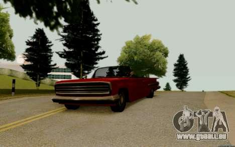 Voodoo Convertible (version sans feux) pour GTA San Andreas vue de droite