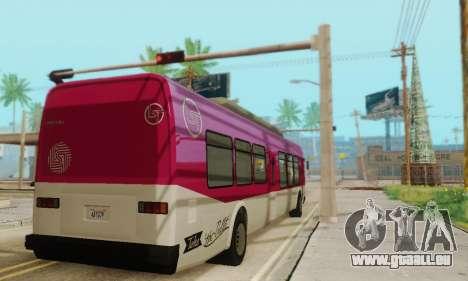Autobus de transport en commun из GTA 5 pour GTA San Andreas vue arrière