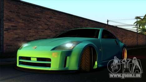 Nissan 350Z Minty Fresh pour GTA San Andreas vue de côté