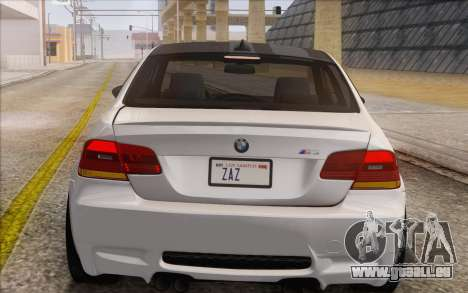 BMW M3 E92 2008 pour GTA San Andreas vue de côté