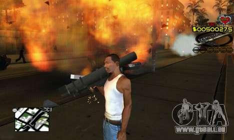 C-HUD New Liberia pour GTA San Andreas quatrième écran