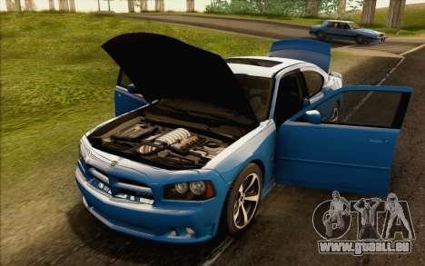 Dodge Charger SRT8 2006 pour GTA San Andreas vue intérieure