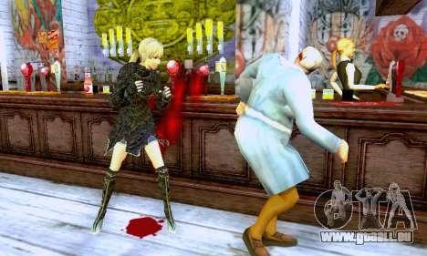 Das blonde Mädchen in schwarzer Kleidung für GTA San Andreas fünften Screenshot