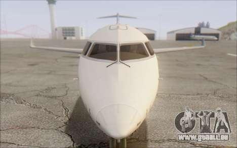 Garuda Indonesia Bombardier CRJ-700 für GTA San Andreas Rückansicht