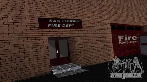 Updated San Fierro Fire Dept für GTA San Andreas zweiten Screenshot