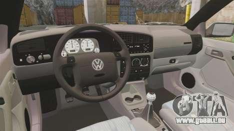 Volkswagen Golf MK3 Harlequin für GTA 4 Rückansicht