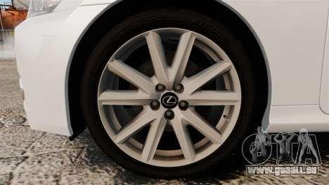 Lexus GS 300h für GTA 4 Rückansicht