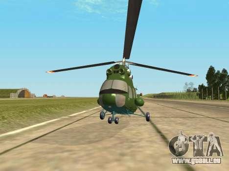 Mi 2 militärischen für GTA San Andreas zurück linke Ansicht