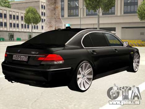 BMW 760Li für GTA San Andreas Innen