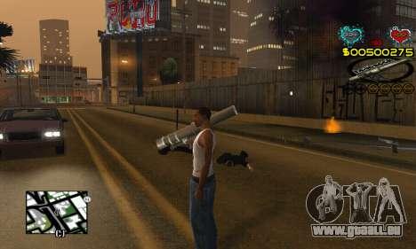 C-HUD New Liberia pour GTA San Andreas troisième écran