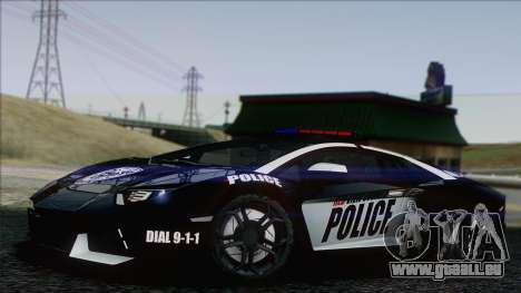Lamborghini Aventador LP 700-4 Police für GTA San Andreas