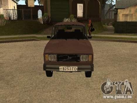 VAZ 2105 de la première version pour GTA San Andreas laissé vue