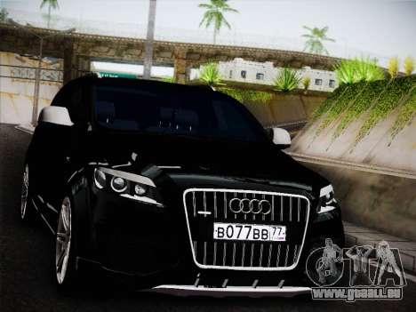Audi Q7 für GTA San Andreas zurück linke Ansicht
