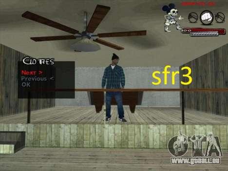 Peaux Surenos 13 pour GTA San Andreas troisième écran