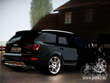 Audi Q7 pour GTA San Andreas vue arrière