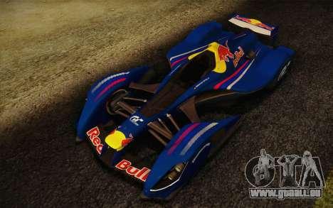 GT Red Bull X10 Sebastian Vettel pour GTA San Andreas laissé vue