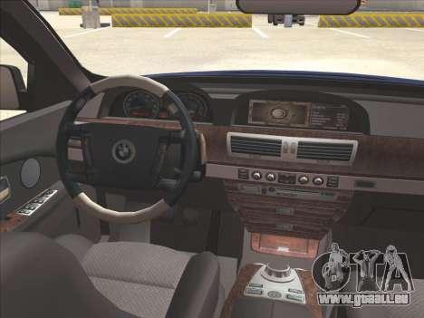 BMW 760Li für GTA San Andreas Seitenansicht