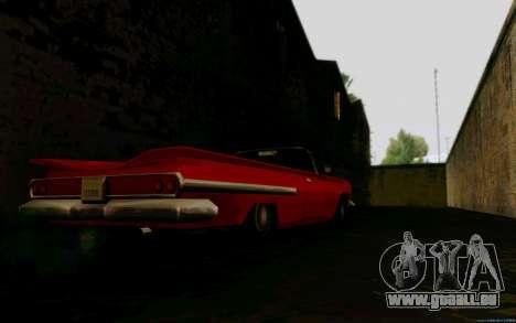 Voodoo Convertible (version sans feux) pour GTA San Andreas sur la vue arrière gauche