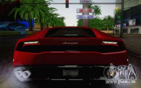 Lamborghini Huracan 2013 für GTA San Andreas Seitenansicht