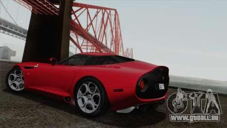 Alfa Romeo Zagato TZ3 2012 pour GTA San Andreas vue de droite