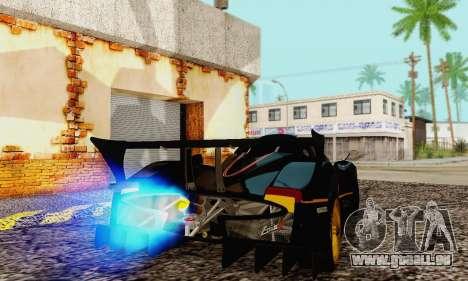 Pagani Zonda Type R Black pour GTA San Andreas vue de droite