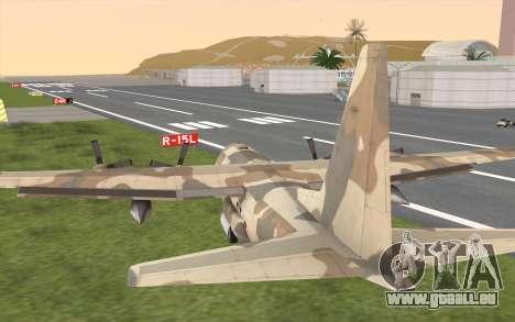 C-130H Hercules für GTA San Andreas Seitenansicht