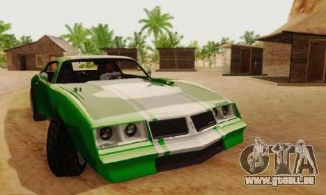 Imponte Phoenix из GTA 5 pour GTA San Andreas vue de dessous