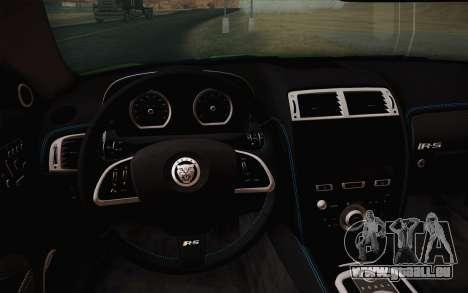 Jaguar XKR-S GT 2013 für GTA San Andreas Rückansicht
