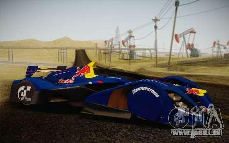 GT Red Bull X10 Sebastian Vettel pour GTA San Andreas vue de droite