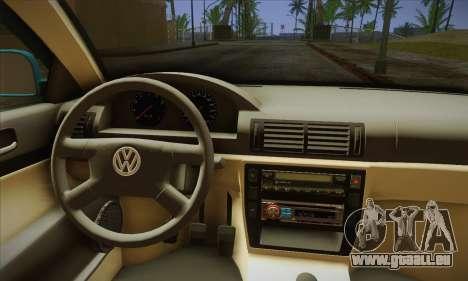 Volkswagen Passat pour GTA San Andreas vue arrière